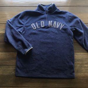 Old Navy Boys Navy Blue Half Zip Fleece Sweatshirt